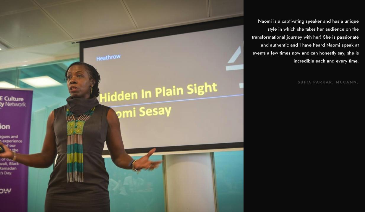 Naomi Sesay | Testimonials 2